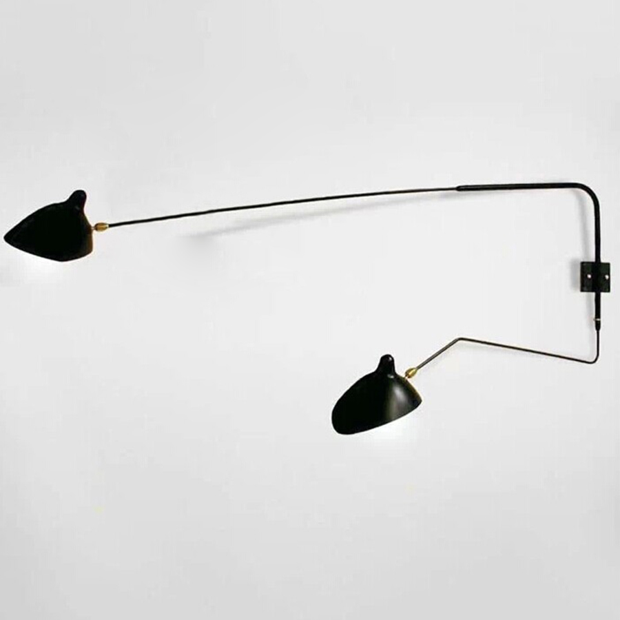 serge mouille wall lamp arandela vintage wall black wall sconce retro loft industrial led. Black Bedroom Furniture Sets. Home Design Ideas