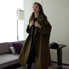Womans Thicken Cardigan Palto Plus Size Woolen Down Coat Autumn Long Warm font b Jacket b