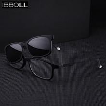 купить ibboll Luxury Clip On Polarized Sunglasses Women Square Sun Glasses for Men Brand Designer Fashion Sunglass Unisex Male 7703 по цене 795.43 рублей
