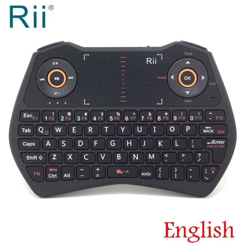 Original Rii i28C Backlit 2.4GHz Wireless Mini Keyboard Air Mouse with TouchPad for Andorid TV Box,IPTV,Mini PC,Laptop genuine rii i28c 2 4g wireless keyboard with touchpad backlit for tablet pc htpc iptv smart tv google android tv box stick etc