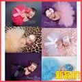 8 Colores Newborn Fotografía Atrezzo Foto Apoyos Falda Del Tutú Muchachas de La Falda Sets Venda de La Flor de Las Fotos Del Bebé Sesión de Fotos para el Bebé