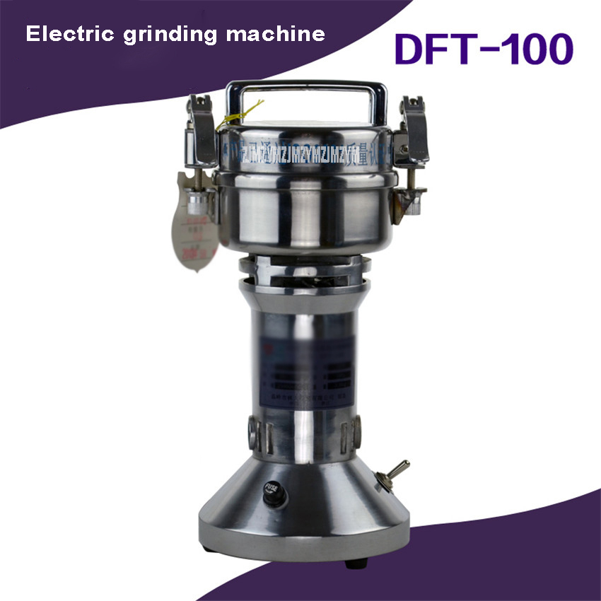 100g Mini Electric Grinding Machine 400W Portable Pepper Barley Herb Chinese Medicine Mill Grinder Machine Home Use DFT-100