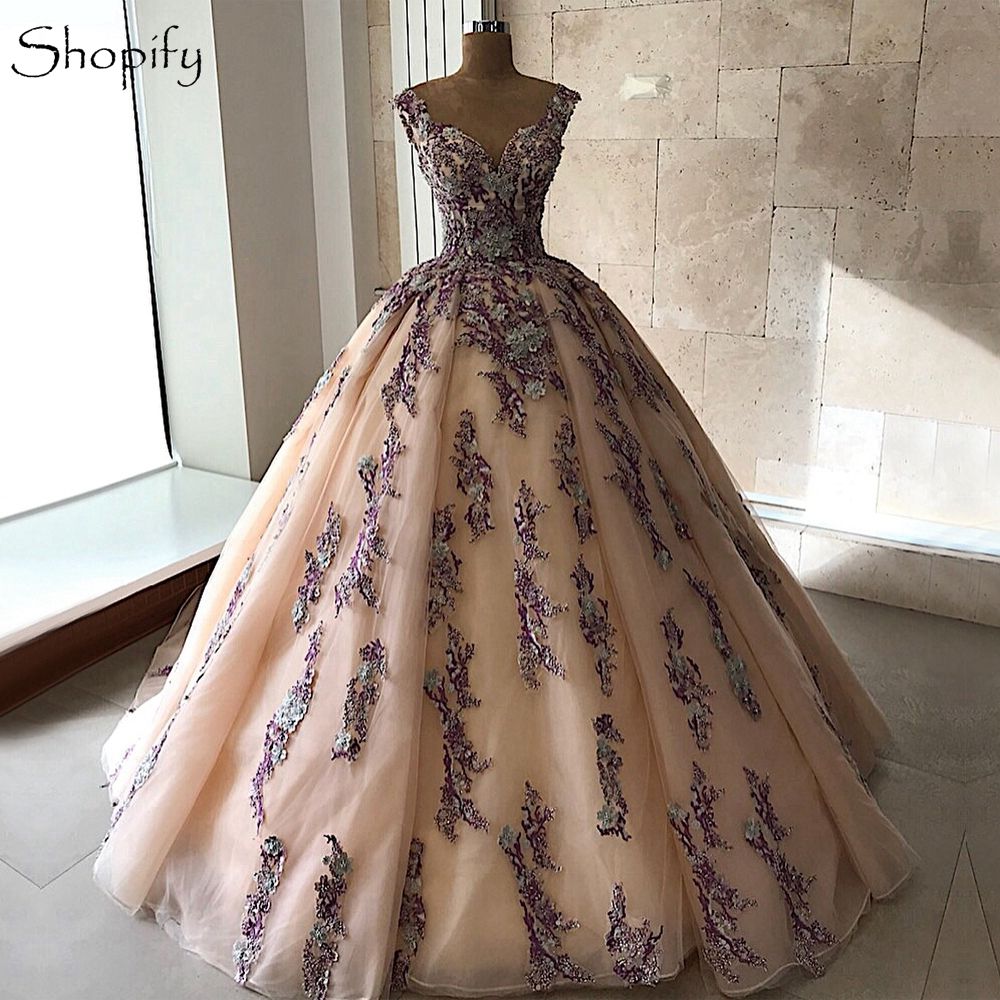 Long Arabic Style Evening Dress 2019 Sweetheart Lace ...
