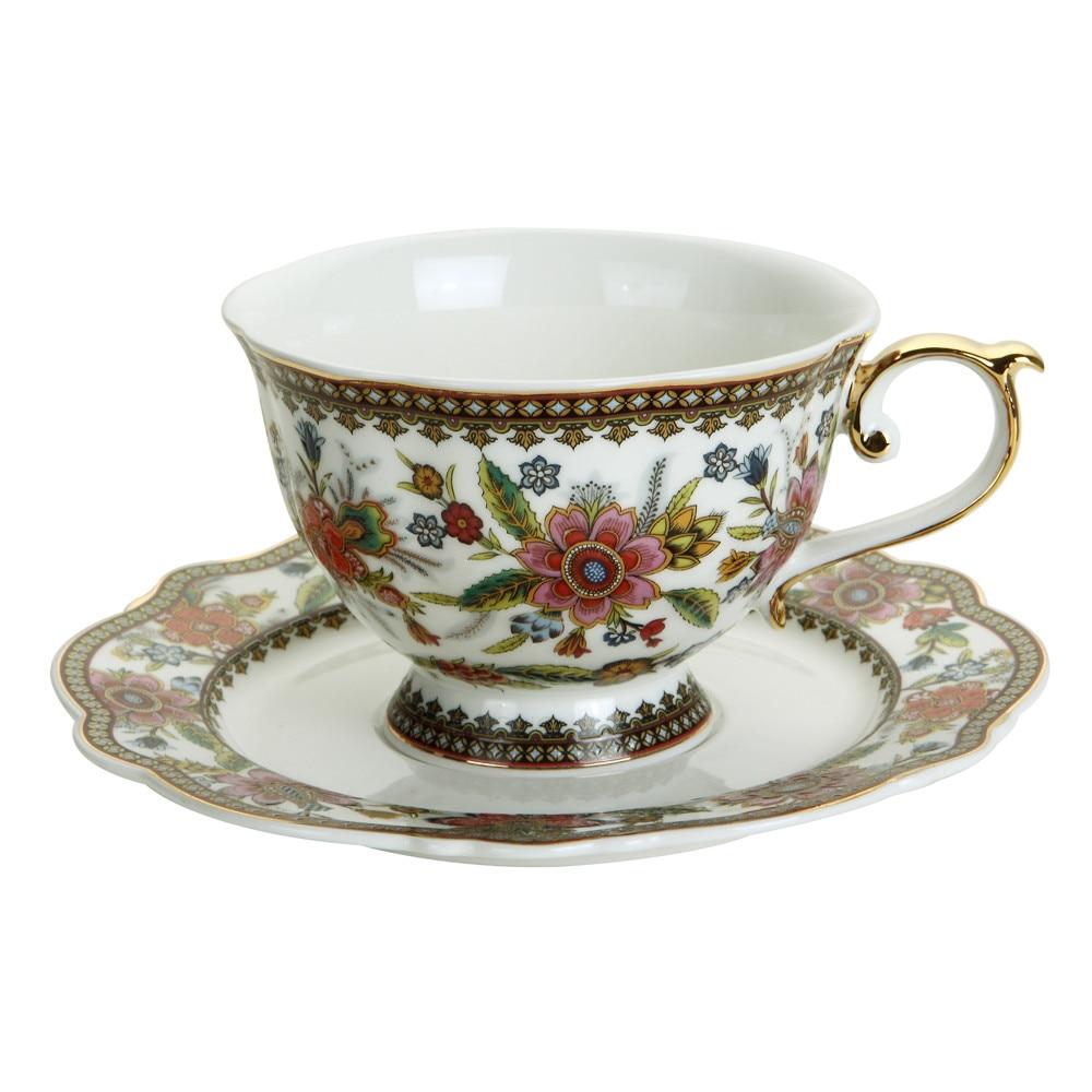 Tea Cup Set, 200ml Fine Bone China Coffee Saucer Set