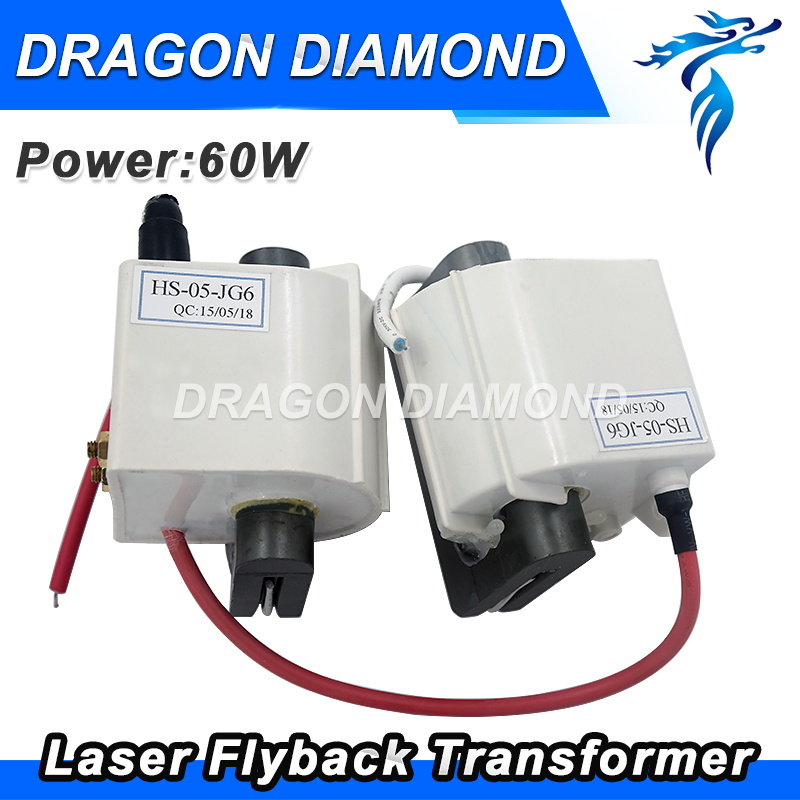 Free Shipping 60W High Voltage Flyback Transformer For CO2 Laser Power Supply 60W free shipping high quality used rfr60 50 50ohm 50r 60w rf power resistor