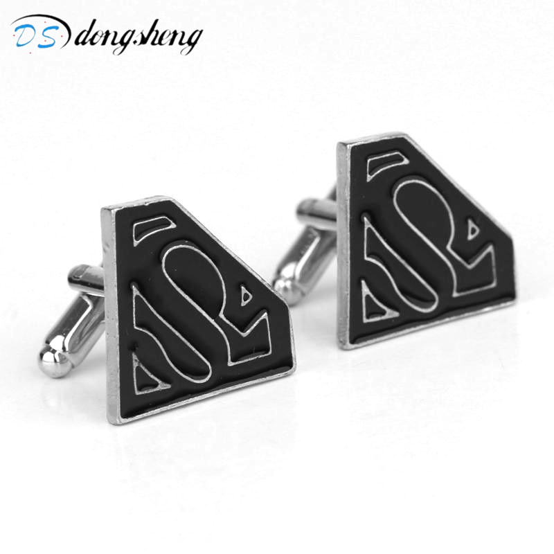 dongsheng Superman Super Man Superhero Super Hero Cufflink Cuff Link Men's Suit Cuff Cutton Biggest Promotion Cufflinks-40