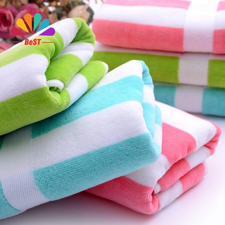 New 100 Cotton Soft Microfiber Beach Towel 1pc A Lot 34 75cm 100