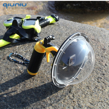 QIUNIU 6 Diving Dome Port Waterproof Lens Cover Housing Case for GoPro Hero 5 6 7 Black 2018 for Hero 7 Silver/White Accessory
