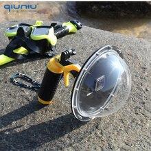 QIUNIU 6 Duiken Dome Poort Waterdicht Lens Cover Behuizing Case voor GoPro Hero 5 6 7 Zwart 2018 voor hero 7 Zilver/Wit Accessoire