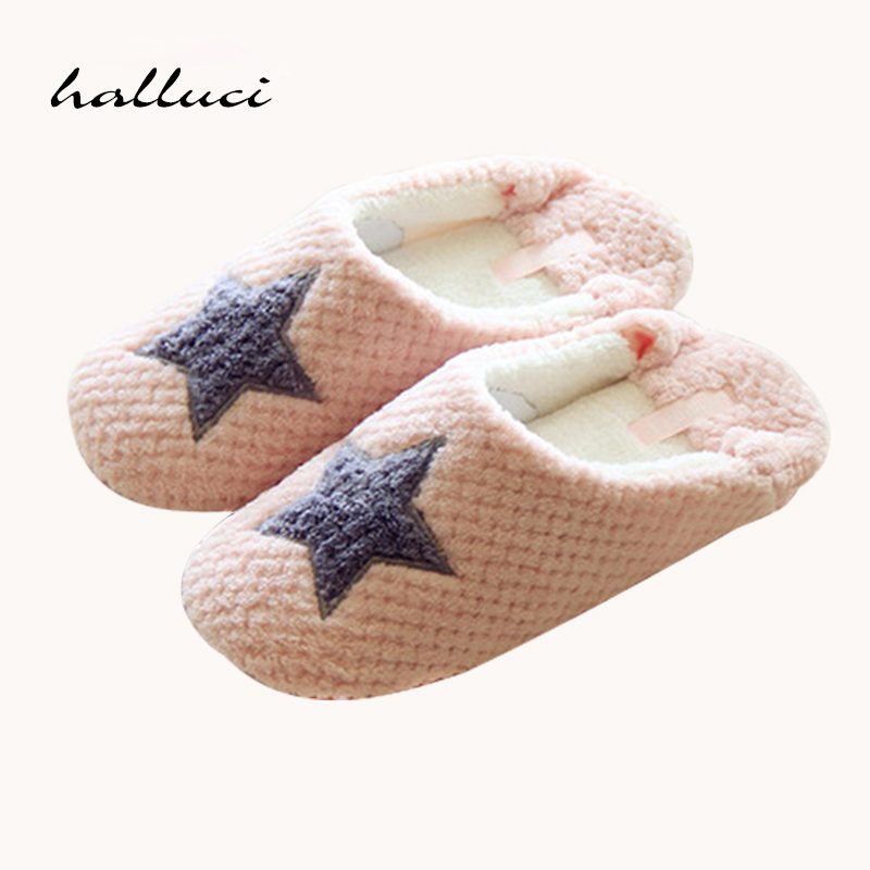 New Women Home Slippers Warm Winter Cute Indoor House Shoes Bedroom Room For Guests Adults Girls Ladies Pink Soft Bottom Flats