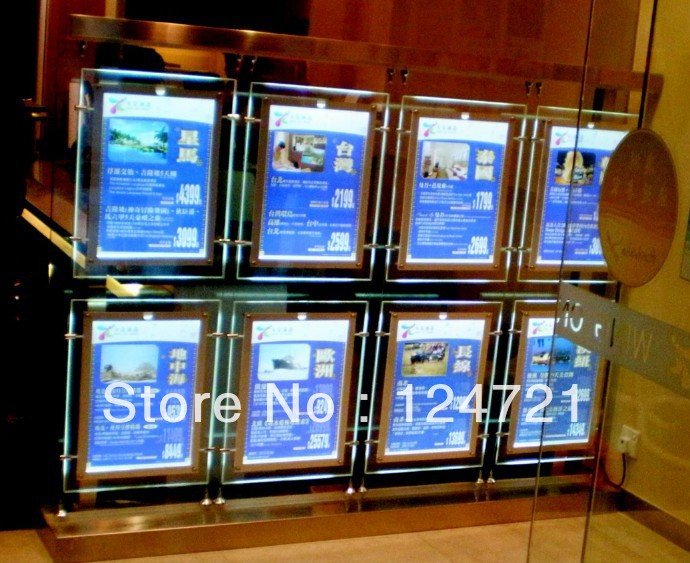 advertising light box led panel hanging acrylic poster frame magic mirror box advertising display a3 size