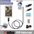 2en1 xinfly endoscopio endoscopio micro usb para andriod teléfono y PC 7mm Dia HTA7 6LED 60 Ángel Grado IP67 Inspecition Endscope