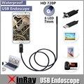 XinFly 2in1 Эндоскоп Micro USB Эндоскоп для Andriod Телефон и PC 7 мм Dia HTA7 6LED 60 Градусов Ангел IP67 Inspecition Endscope