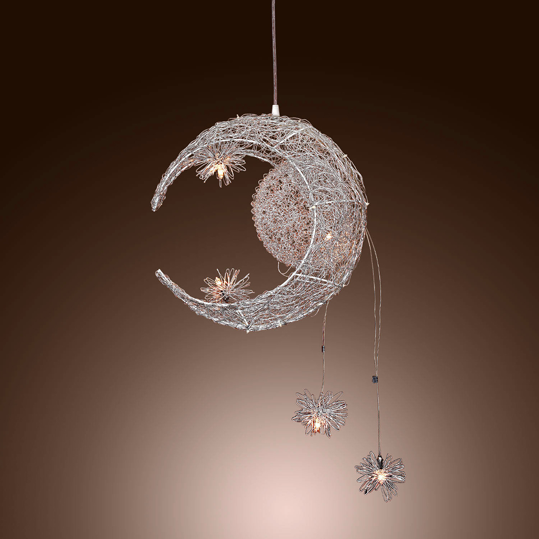 Moon & Star Sweet Bedroom Lighting Pendant Lamp Chandelier Ceiling Light Fixture брошь moon paris moon paris mo038dwynx31