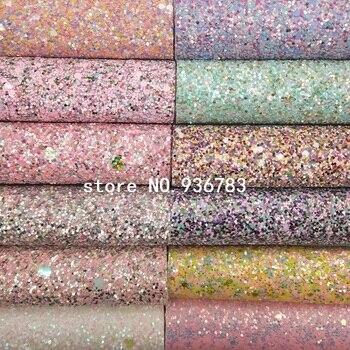 ee68a625 MQ225 30X134 cm Rosa brillo grueso de cuero tela del brillo con corazones para  hacer zapatos de arcos bolsos de papel decoración de la fiesta