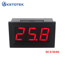 Display A LED rossi DC Amperometro Corrente Meter Panel Ampere Meter Digital Amperometro DC-50.0A