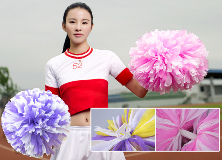 High Quality 32CMAll Star First Single Paragraph Cheerleading Pom Pon Cheerleading Cheer Supplies Free Shipping