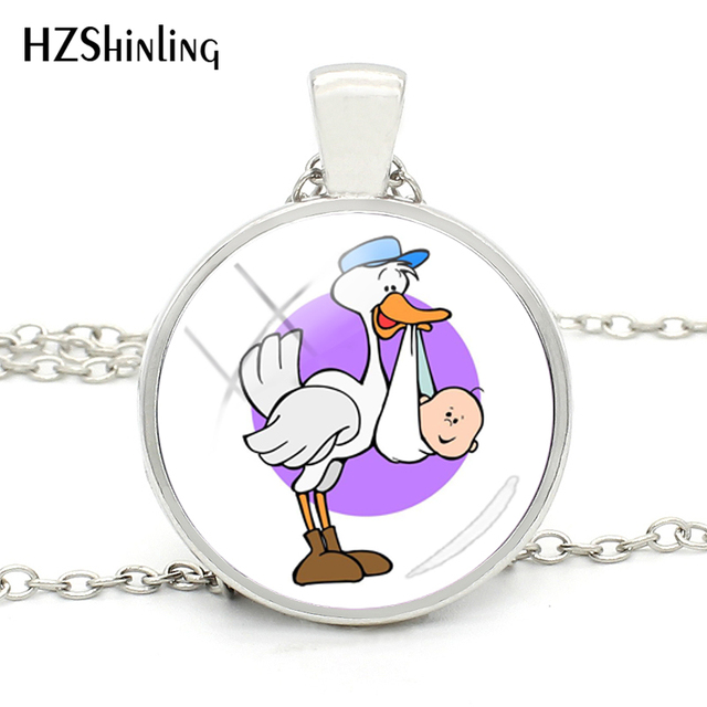 Fine Necklace Stork Baby...
