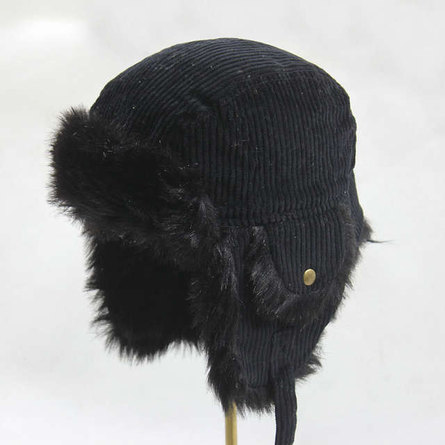 08da863e Winter Suede Hats For Men Bomber Hats Aviator Ear Flaps Russian Fur Cap  Outdoor Cycling Ride Motorcycle Ski Hiking Cap-in Bomber Hats from Apparel  ...