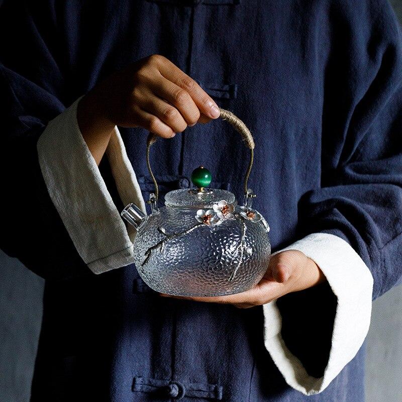 650 ml Kreative Boutique Japanischen Verdicken Wärme Beständig Glas Tee Topf Home Blume Teekanne Büro Wasserkocher Drink-in Teekannen aus Heim und Garten bei  Gruppe 2