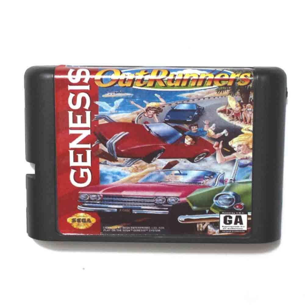 Out Runners 16 bit MD Game Card For Sega Mega Drive For Genesis