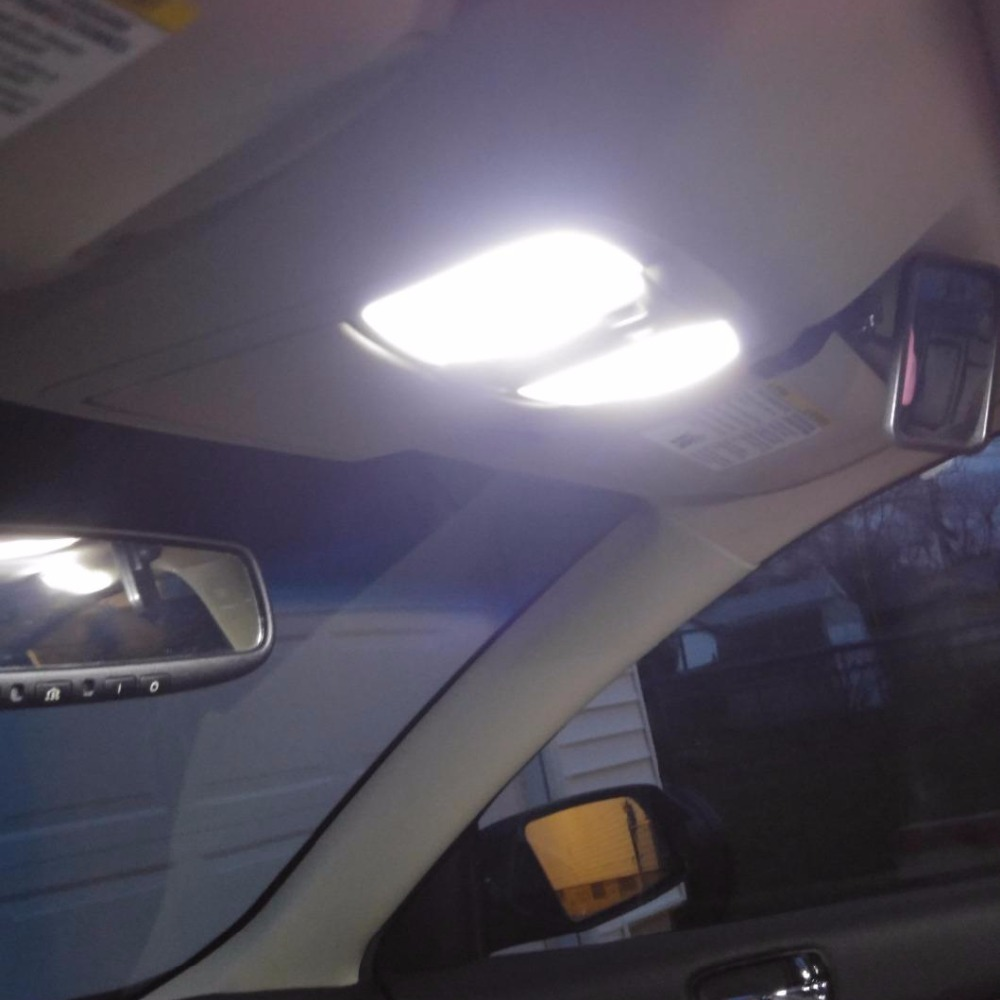 19pcs White Error Free LED Interior Light Kit For 2000-2009 Volvo S60 Sedan Accessories Map Dome Trunk Compartment Light