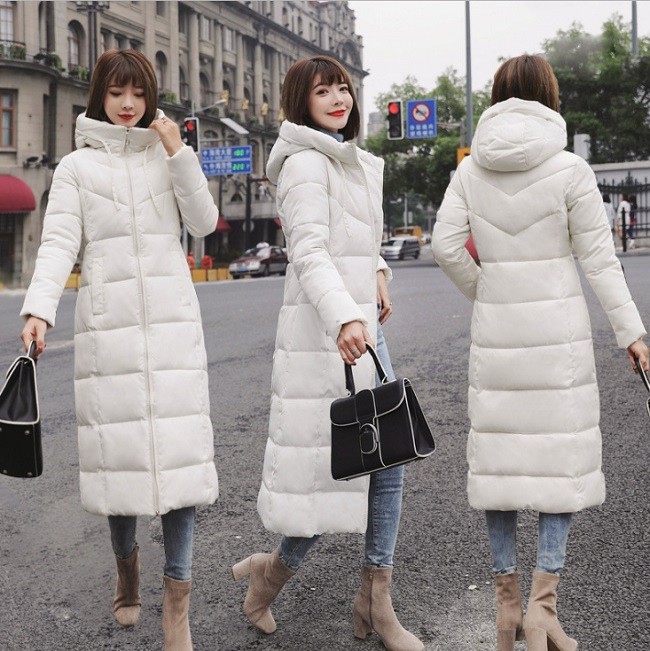 2019 Plus Size 6XL Winter Women Down Cotton Medium-Long Jacket   Parka   Famale Hooded Big Fur Collar Wide-Waisted Warm Coat Xnxee