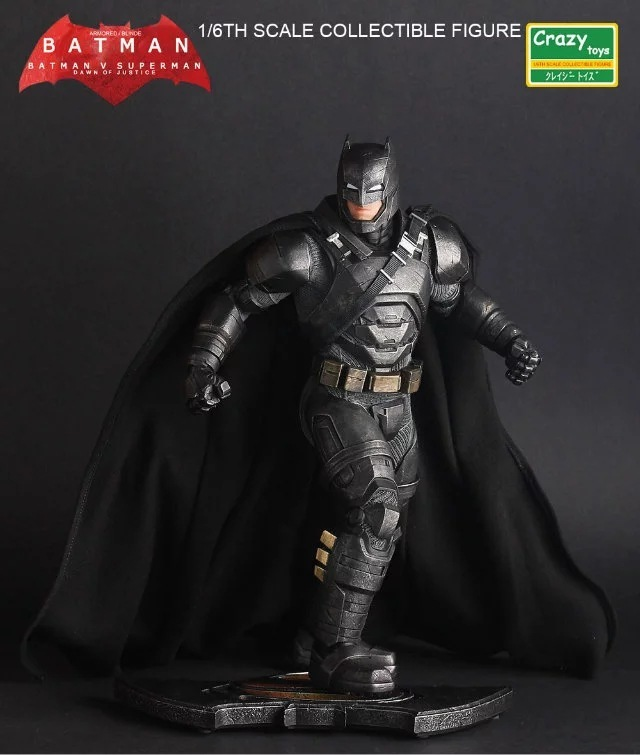 Pazzo Giocattoli 1:6 Batman v Superman: dawn of Justice The Dark Night Batman Armored/Blinde Collectible Figure Giocattoli 30 cm dc comics ation figure batman v superman dawn of justice armored batman action figure lighting eyes toy 17cm