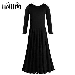 Image 1 - Официальное балетное танцевальное платье iiniim для девочек, гимнастическое трико для детей, танцевальные костюмы, одежда для литарных танцев