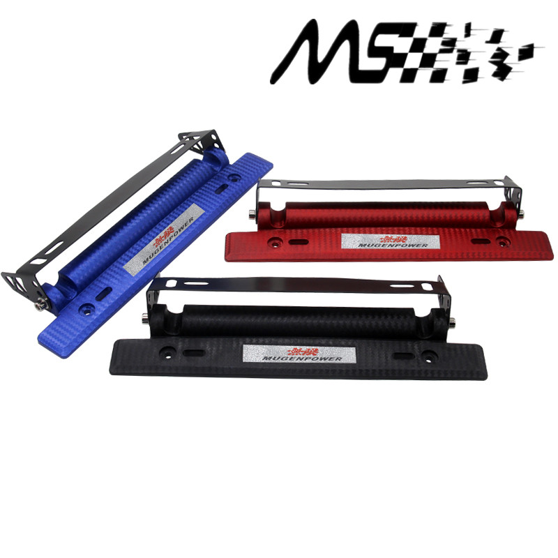 License-Plate-Frame Carbon-Fiber-Look Bumber-Plate Mugen-Style Color Adjustable Aluminium