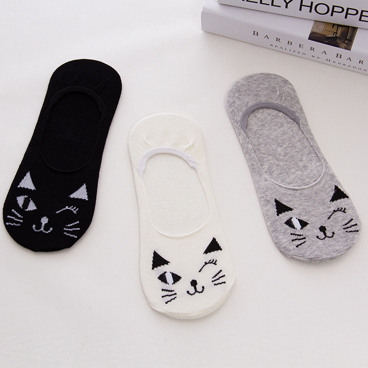 Girls Invisible Socks Woman Boat Socks For Women No Show Non-Slip Invisible Low Cut Ankle Socks