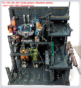 Image 5 - 반다이 건담 프리 콤비네이션 dc010 용 cg 유니버설 격납고 차고 프론트 라인베이스 장면