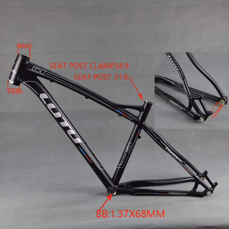 LUTU 27.5inch Aluminum Alloy MTB Frame 26er Mountain Bike Frame Bicycle Frame aluminum alloy mountain bike frame bicycle frame mtb 26 15 18inch ultra lightweight frame contains headset