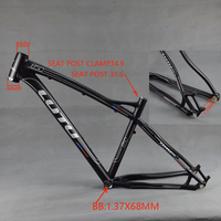 LUTU 27.5inch Aluminum Alloy MTB Frame 26er Mountain Bike Frame Bicycle Frame