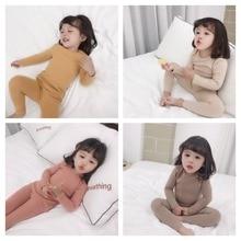 2019 New Spring Autumn Baby Girls Pajamas set Wool Lycra 2pcs Children kid Lougewear High Quality Night Clothes 18M-6T