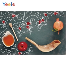 Yeele Happy Rosh Hashanah Photography Backdrop Shofar Pomegranates Apples Honey Kids Photographic Background For Photo Studio