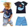 Humor Bear NEW children clothing set cartoon boys set baby sets short t shirt+pants 2 pcs set clothes kids suit