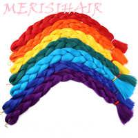 MERISI cheveux 82 pouces tressage synthétique cheveux un peice 165g Crochet Jumbo tresses Extensions de cheveux 29 couleurs disponibles