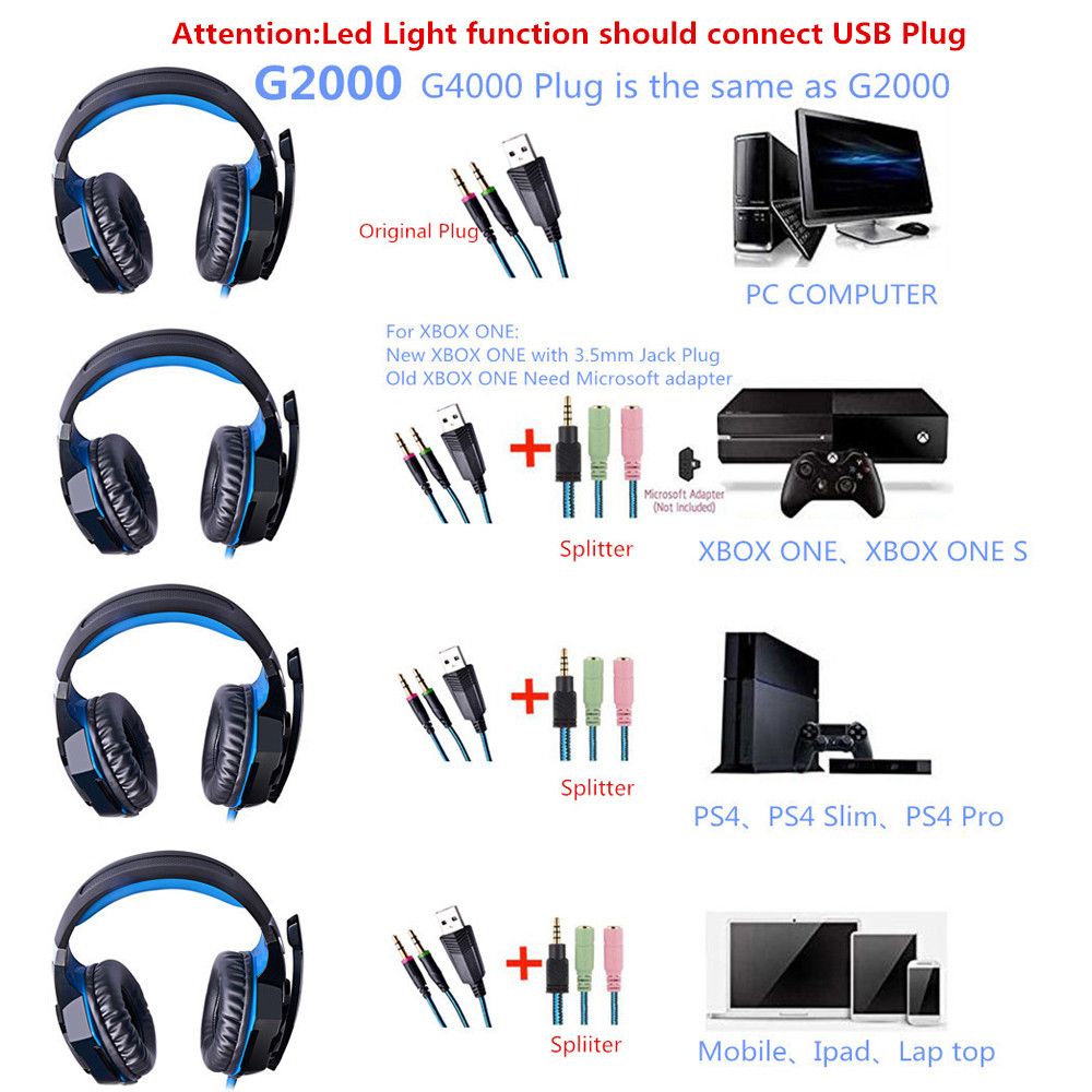Gaming Headsets Wired Headphones with Microphone Light for a Mobile Phone Deep Bass Auriculares Con Cable for PS4,PC New Xbox 5