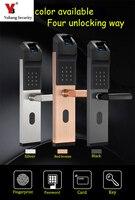 Yobang безопасности дома Противоугонный интеллектуальный замок с Биометрическим распознаванием смарт замок без ключей биометрический дверн