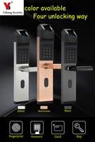 Yobang Security Home Anti theft Intelligent Biometric Fingerprint Lock Keyless Smart Door Lock Fingerprint+Password+ID Card+Keys