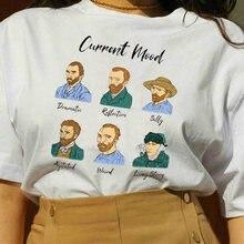 Kuakuayu HJN – t-shirt graphique de Van Gogh, Mode actuel dramatique, réfléchissant, muet, agité, bizarre, longue histoire drôle