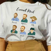 kuakuayu HJN Current Mode Dramatic,Reflective,Silly,Agitated,Weird,Long Story Funny T Shirt Van Gogh Memes Graphic T Shirt