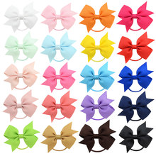 "1 Pieces 2.2"" Baby Girls Hair Bow Clips Grosgrain Ribbon Bows Barrettes For Girl Teens Kids Babies Toddlers 028(China)"