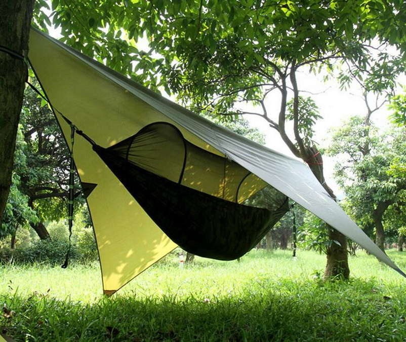 Traveling outdoor anti-ultraviolet rainproof shade sunset camping tent tiles thick shade awning outdoor double layer 10 14 persons camping holiday arbor tent sun canopy canopy tent