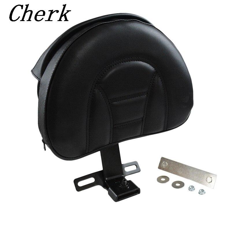 Negro desmontable enchufe en conductor ajustable respaldo Kit para Harley Fatboy Heritage Softail 2007-2017 16 15 14 13 12