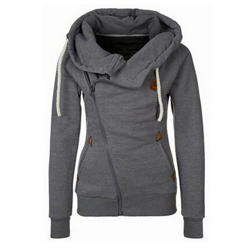 Spring Zipper Warm Fashion Hoodies Women Long Sleeve Hoodies Jackets Hoody Jumper Overcoat Outwear Female Sweatshirts