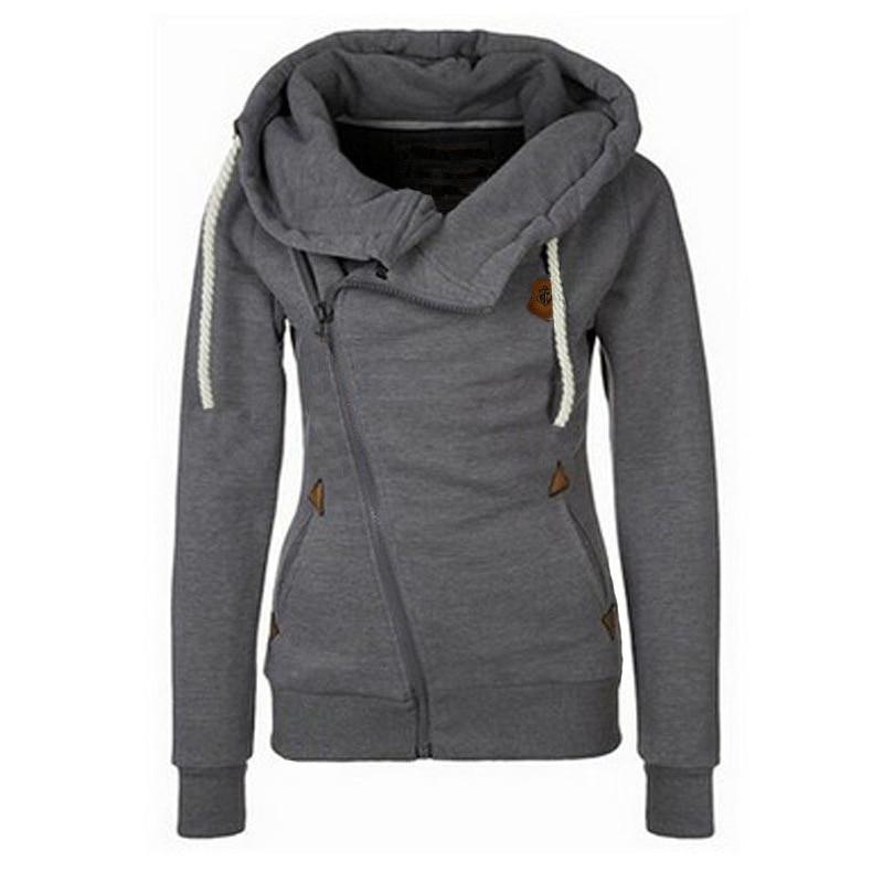 Spring Zipper Warm Fashion Hoodies Women Long Sleeve Hoodies Jackets Hoody Jumper Overcoat Outwear Female Sweatshirts