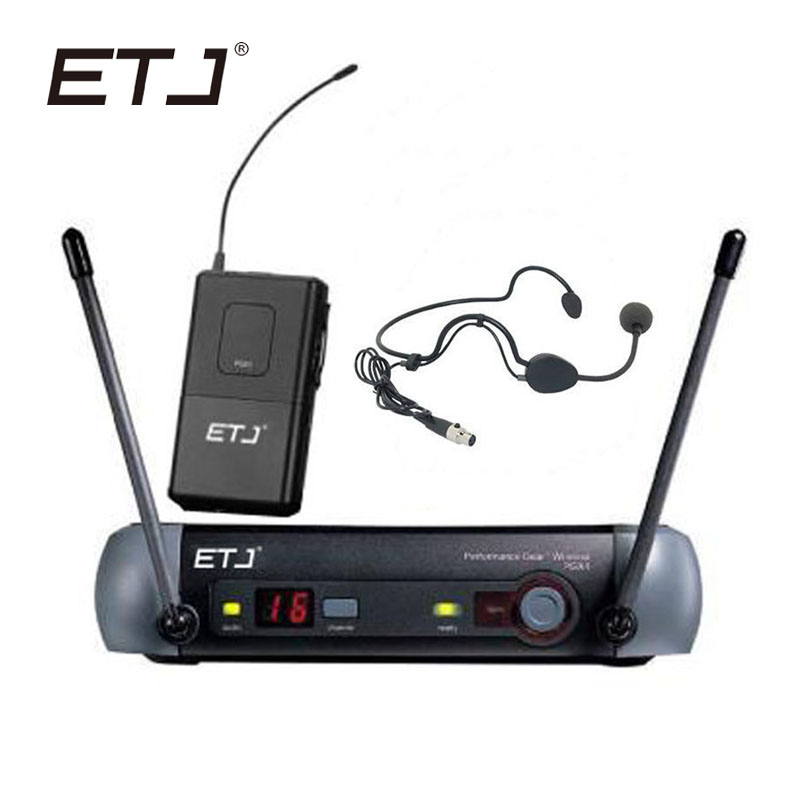 ETJ Brand UHF Professional Wireless Microphone System PGX for Stage Microphone PGX4 PGX14 Bodypack Belt Pack Headset free shipping uhf professional sx 14 wireless microphone system with bodypack headset microphone band j3 572 596mhz