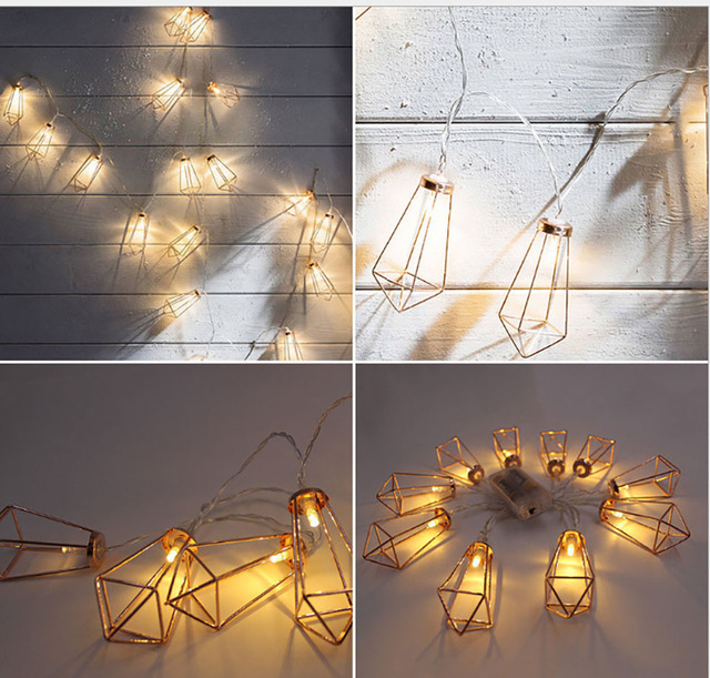 Linyee Decorative Diamond Led String Lights Rose Gold Fairy Light For Christmas Party Wedding Bedroom
